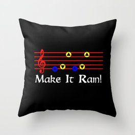 Make It Rain! - Song Of Storms (The Legend Of Zelda: Ocarina Of Time) Throw Pillow