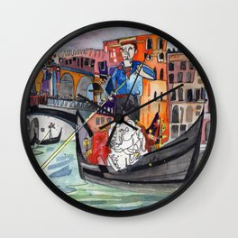 Lovers in Venice Wall Clock