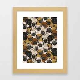 Social Pugs Framed Art Print