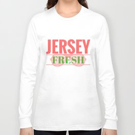 Jersey Fresh New Jersey Pride Graphic Print Long Sleeve T-shirt