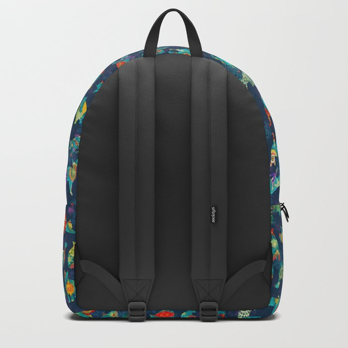 Colorful Christmas cats Backpack