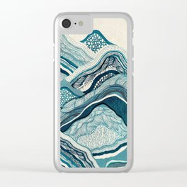 Blue Mountain Hike Clear iPhone Case