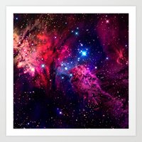 galaxy Art Prints featuring Galaxy! by Matt Borchert