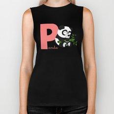 p for panda Biker Tank