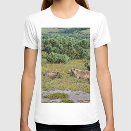 Kamchatka brown bears (mother and cub) T-shirt