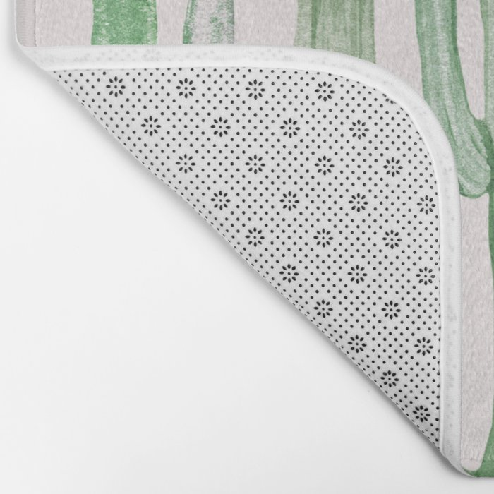 Three Amigos Pink + Green Bath Mat