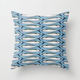 Mackerel Fish Pattern Throw Pillow