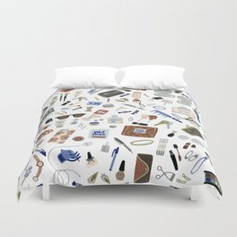 Girly Objects Duvet Cover