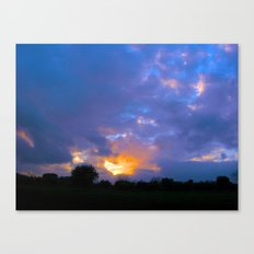 Sunset from my house 5 Canvas Print
