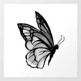 Ink butterfly Art Print