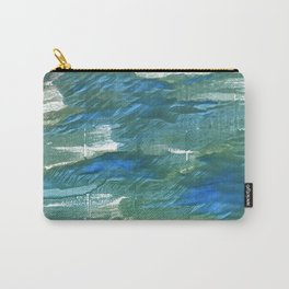 Wintergreen Dream abstract watercolor Carry-All Pouch