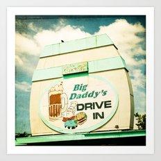 Big Daddy's drive in Art Print