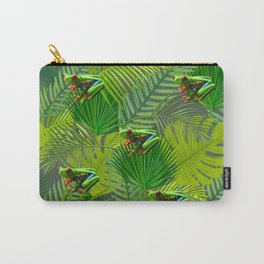 Frog Forest Carry-All Pouch