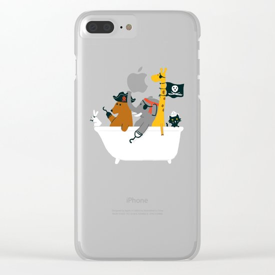 Everybody wants to be the pirate Clear iPhone Case