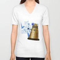 dalek V-neck T-shirts featuring Dalek by StudioMarimo