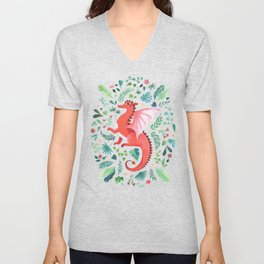 Tropical Dragon Unisex V-Neck