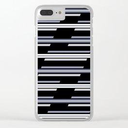 Skewed Stripes Pattern Design Clear iPhone Case