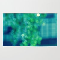 bokeh Area & Throw Rugs featuring Bokeh by LindaMarieAnson