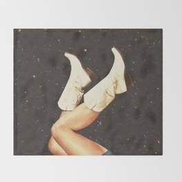 These Boots - Space Throw Blanket