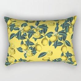 Lemon and Leaf Pattern III Rectangular Pillow