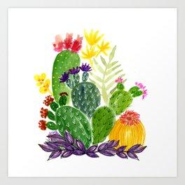 Cactus Garden 1 Art Print