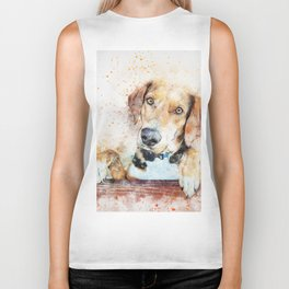 Dog Unhappy Animal Biker Tank