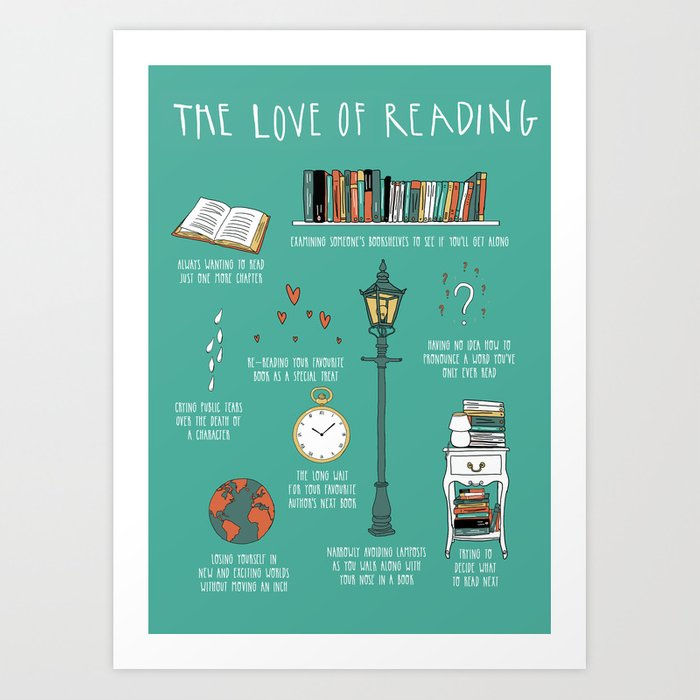 The Love of Reading Art Print