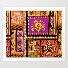 Ornamental African Pattern Art Print