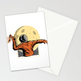 Astronaut Bring Molotov Illustration Stationery Cards