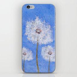 flying dandelion watercolor painting iPhone Skin