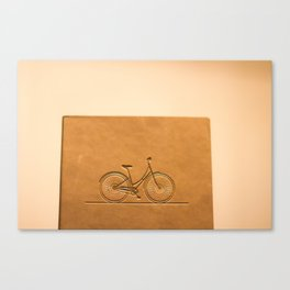i like to ride my bicycle  Canvas Print
