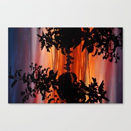 Downtown Silhouette Canvas Print