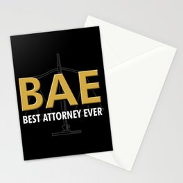 BAE Best Attorney Ever For Lawyer Stationery Cards