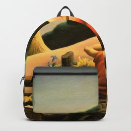 The Great Plains, Achelous and Hercules Mural Panel 1 landscape painting by Thomas Hart Benton Backpack