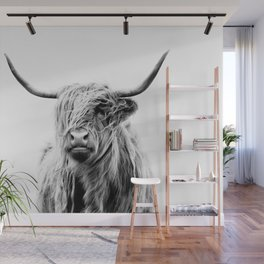 portrait of a highland cow (horizontal) Wall Mural