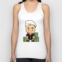 popeye Tank Tops featuring Popeye  by Jefferson Ng