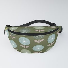 Atomic Age Flower Pattern 4 Fanny Pack