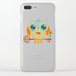 Owl's Summer Love Letters Clear iPhone Case