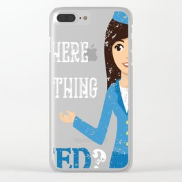 Stewardess Clear iPhone Case