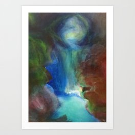 The Kissing Cave Art Print