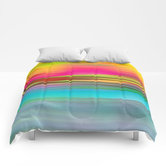 Abstract Sunrise Comforters