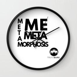 me - meta - metamorphosis Wall Clock