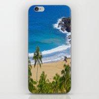hawaiian iPhone & iPod Skins featuring Hawaiian beach by Ricarda Balistreri