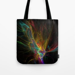 Fractal on black Tote Bag