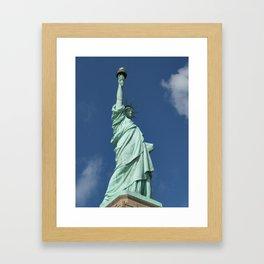 Blue Skies Behind Lady Liberty Framed Art Print