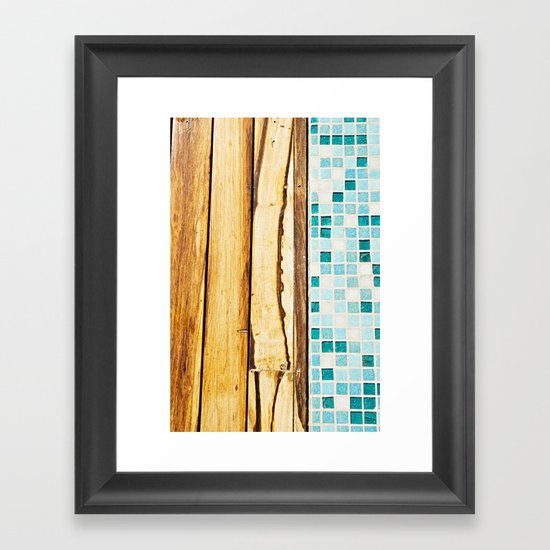 Pool Deck Framed Art Print