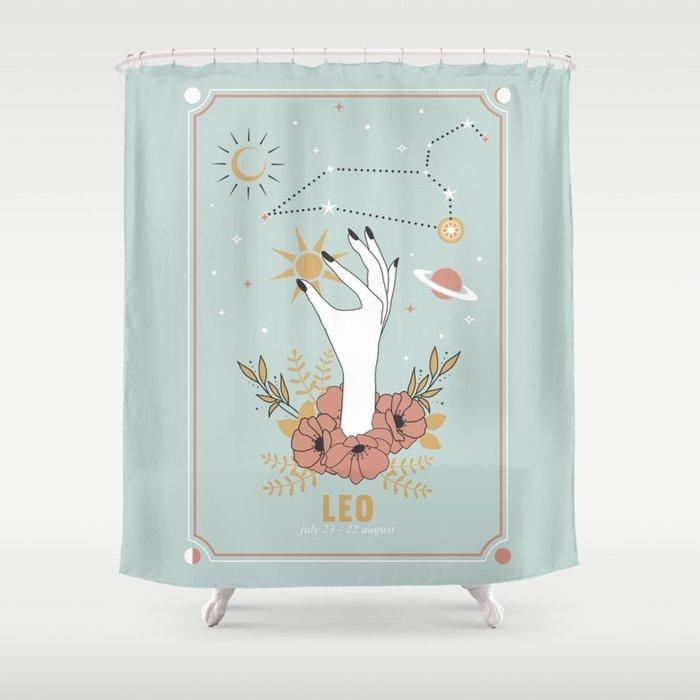 Leo Zodiac Series Shower Curtain