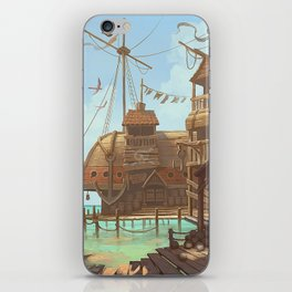The Sand Bar, a pirate paradise iPhone Skin