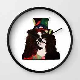 Rock Legend Slash Painting Wall Clock