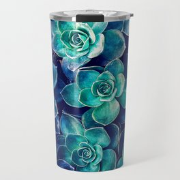 Plants of Blue And Green Travel Mug